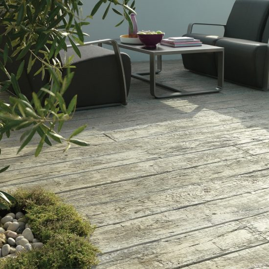 weathered driftwood decking
