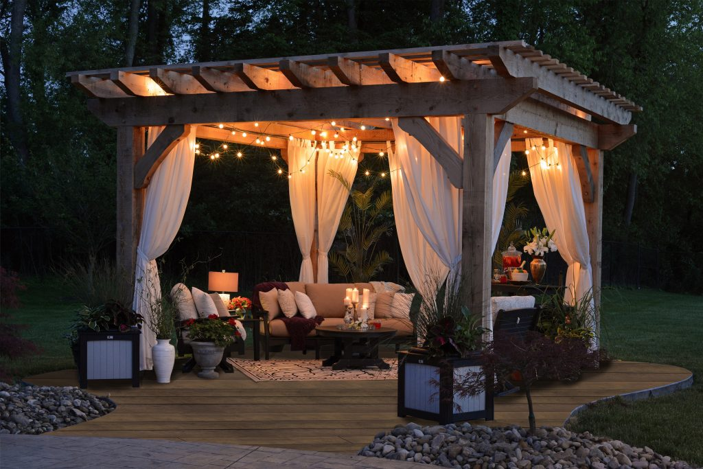 Antique Oak Pergola Decking