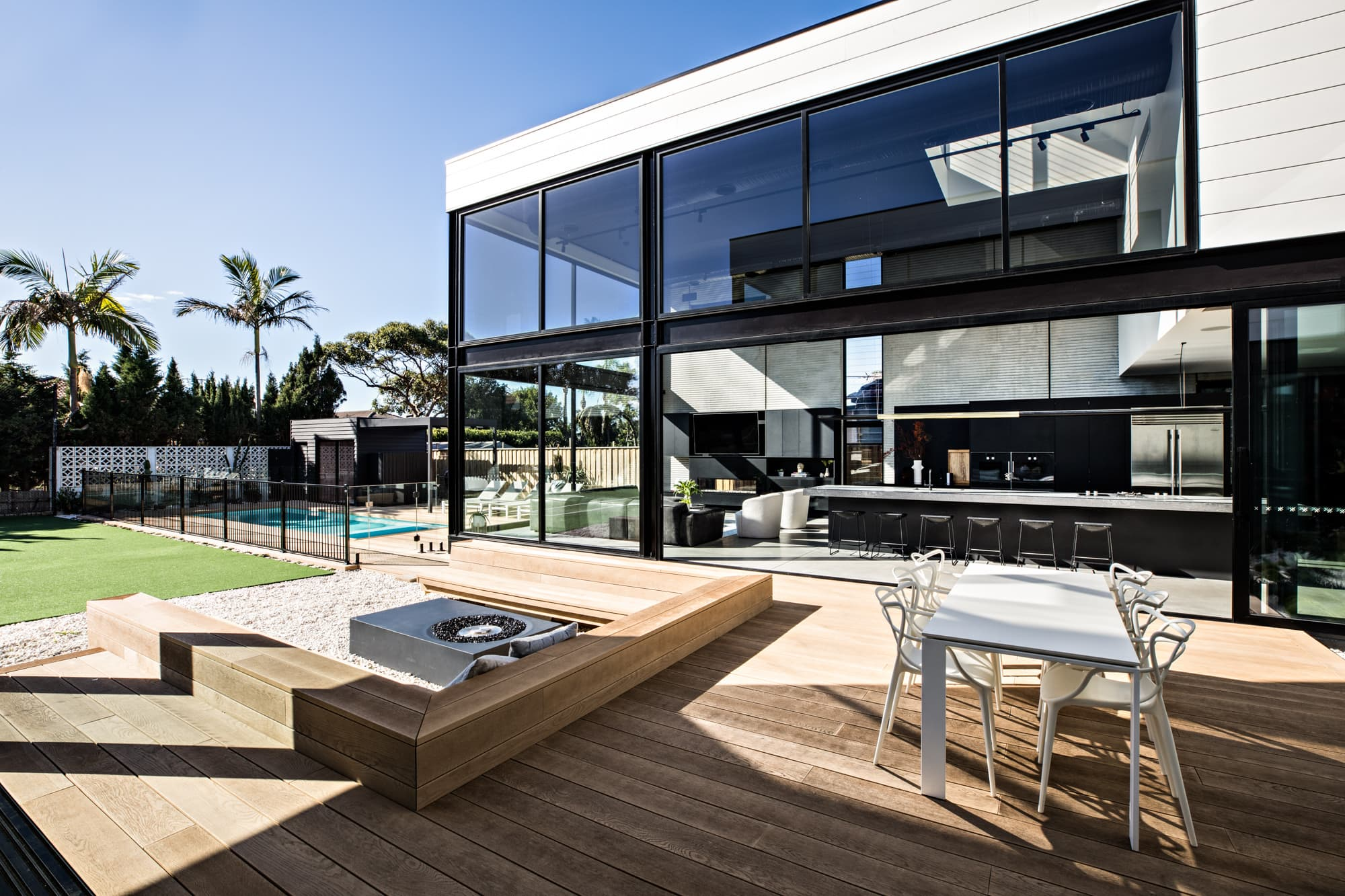 Beautiful house with outside decking