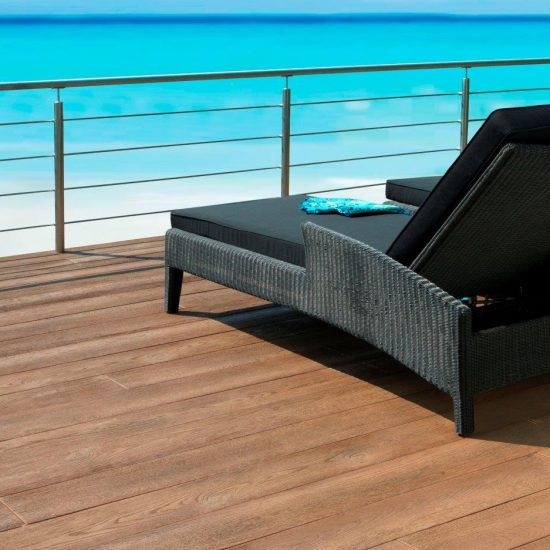 millboard enhanced grain coppered oak with chair