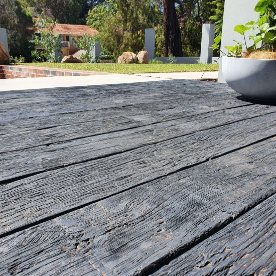 Millboard Carbonised Emberred outside